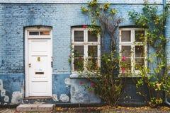 秋天街道在哥本哈根 库存照片