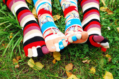 秋天袜子 图库摄影