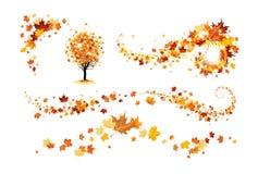 秋天装饰元素 库存例证