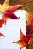 秋天装饰详细资料家庭理想的办公室 免版税库存照片