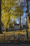 秋天视图-布鲁日在比利时 免版税库存照片