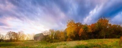 秋天谷仓,麦迪逊,威斯康辛,美国 库存照片