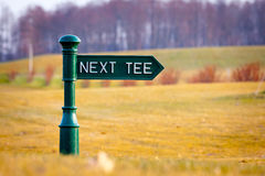 秋天路线高尔夫球 库存照片