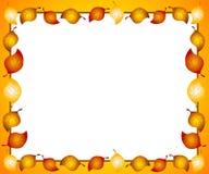 秋天边界框架叶子 库存照片