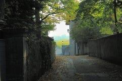 秋天运输路线村庄 免版税库存图片