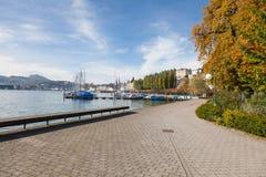 秋天都市风景在卢赛恩 免版税库存图片
