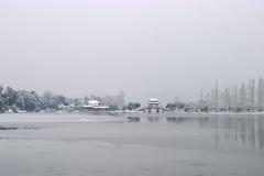 秋天雪westlake 库存图片