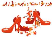 秋天鞋子 库存照片