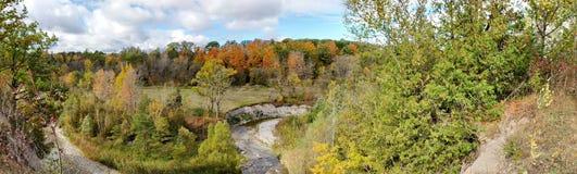 秋天颜色在胭脂全国都市公园 免版税库存图片