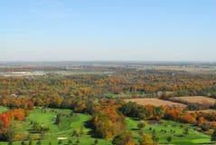 秋天颜色的乡下 库存图片