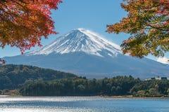 秋天颜色的富士山,日本 库存图片