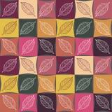 秋天颜色的无缝的样式,在叶子的静脉 免版税库存照片