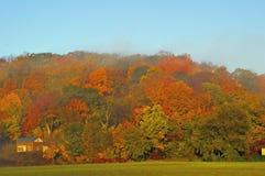 秋天颜色的看法在明尼苏达河谷 免版税库存图片
