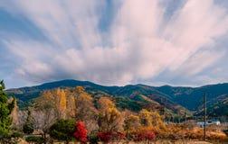 秋天风景农村场面  免版税图库摄影