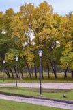 秋天风景在圣彼德堡 库存图片