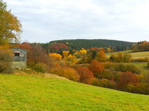 秋天风景在德国 免版税库存图片