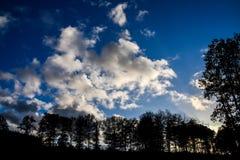 秋天风景在斯塔福德郡,英国 免版税库存照片