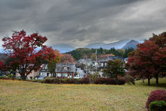 秋天风景在日光,日本 库存图片