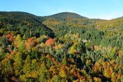 秋天风景在比利牛斯,法国 免版税库存图片