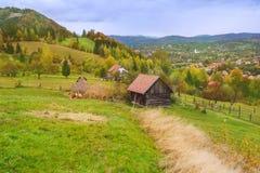 秋天风景在特兰西瓦尼亚 免版税库存照片