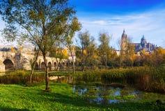秋天风景在萨拉曼卡 免版税库存图片