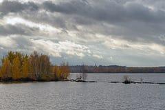 秋天风景在Troitse-Lykovo 莫斯科 库存图片