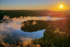 秋天风景早晨 库存照片