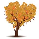 秋天风格化结构树 免版税库存图片