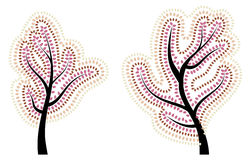 秋天风格化结构树 库存照片