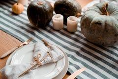 秋天餐位餐具 图库摄影