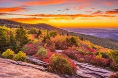 秋天黎明在蓝岭山脉 免版税图库摄影