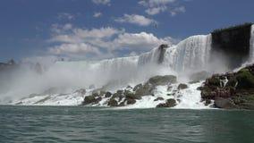 水秋天,小瀑布,自然 影视素材