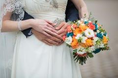 秋天,新娘花束 免版税库存照片