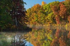 秋天,海岸线Eagle湖 免版税库存图片