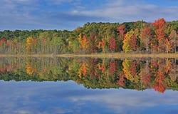 秋天, Hall湖反射 图库摄影