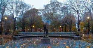 秋天, Rittenhouse广场公园,费城 免版税库存照片