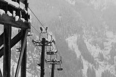 秋天滑雪 免版税库存照片