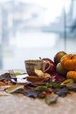 秋天宴餐 库存照片