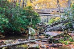 秋天Boone叉子小河北卡罗来纳 免版税库存图片