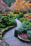 秋天butchart庭院 库存图片