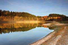 秋天kyiv湖区域乌克兰 库存照片