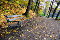 秋天maksimir公园萨格勒布 库存图片