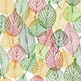 秋季叶子无缝的样式 免版税库存照片