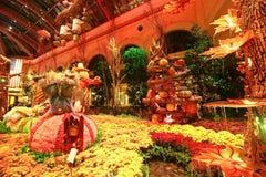 秋季在贝拉焦旅馆音乐学院&植物园里 免版税库存图片