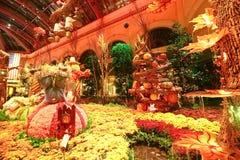 秋季在贝拉焦旅馆音乐学院&植物园里 库存图片