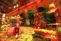 秋季在贝拉焦旅馆音乐学院&植物园里 免版税图库摄影