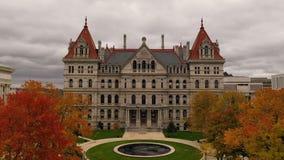 秋季纽约州议会议场国会大厦大厦在阿尔巴尼 影视素材