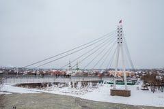 秋明州,俄罗斯- 11月05 2016年:与冻冬天风景 库存图片