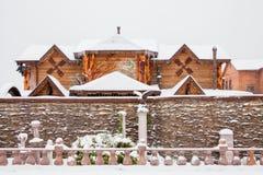 秋明州,俄罗斯- 11月06 2016年:与beautif的冬天风景 库存图片