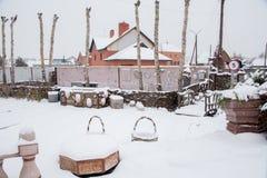 秋明州,俄罗斯- 11月06 2016年:关于cott的风景设计 免版税图库摄影